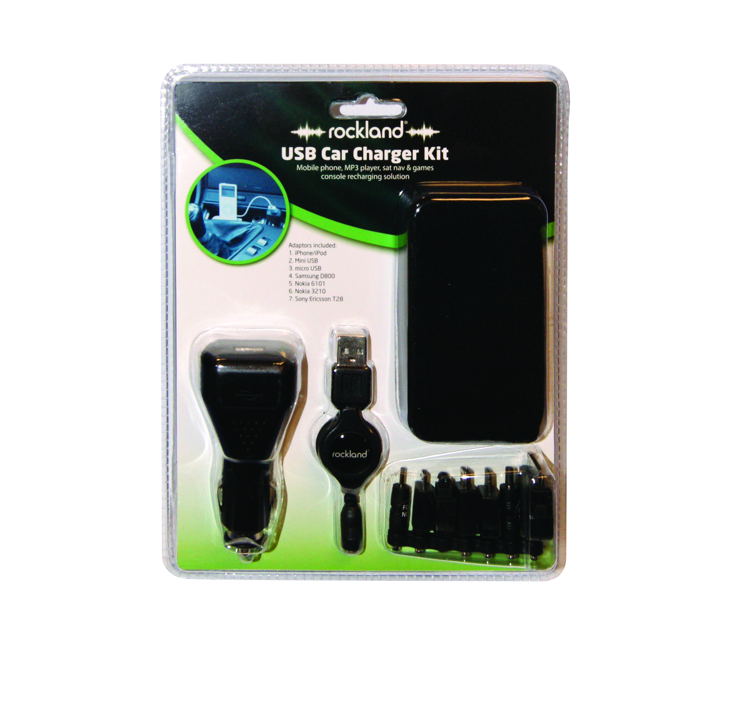 8x Car Charger Kit Inc IPhone F84559 Rockland Genuine