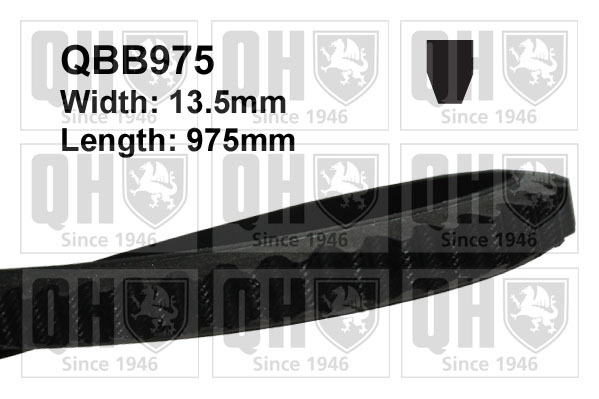 Drive Belt QBB975 QH Fan 11718AA020 1312977 720500205 1200156 1208014 AVX13X975